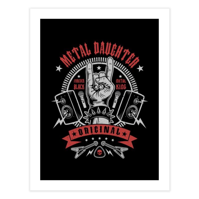 Metal Daughter Home Fine Art Print by Olipop Art & Design Shop