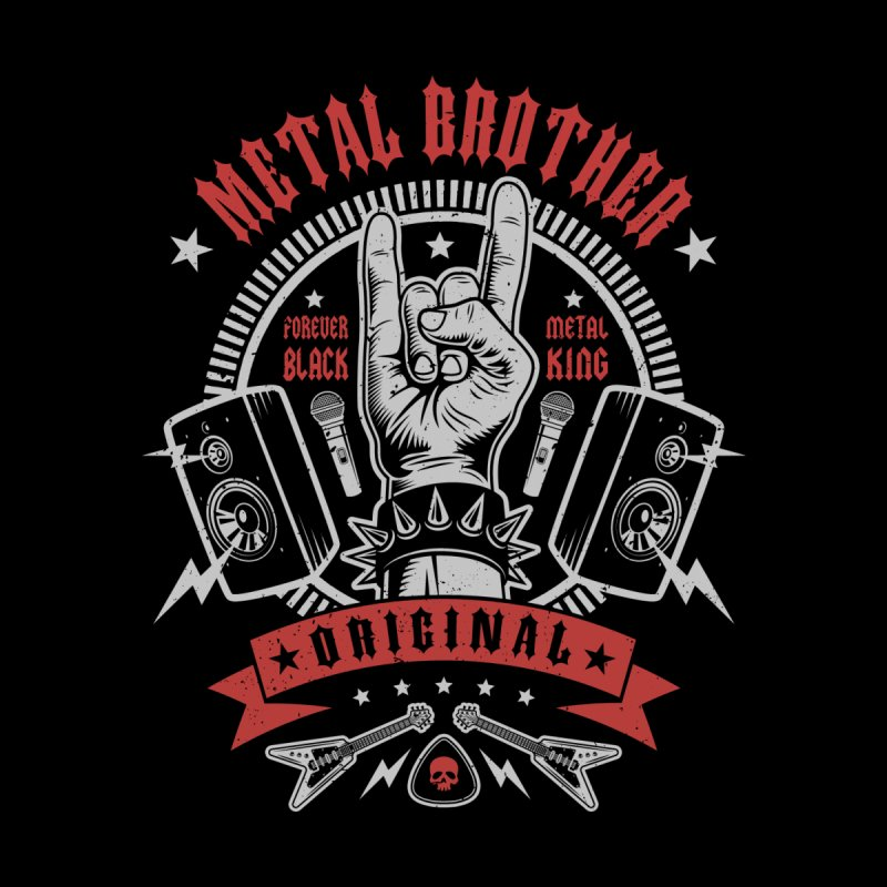 Metal Brother Men's T-Shirt by Olipop Art & Design Shop