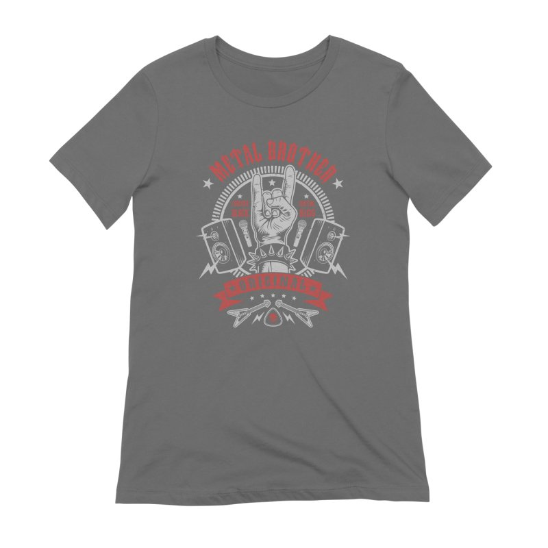 Metal Brother Women's T-Shirt by Olipop Art & Design Shop