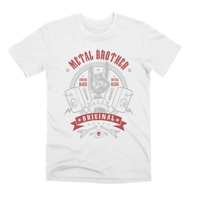 Metal Brother Men's T-Shirt by Olipop Art & Design Shop