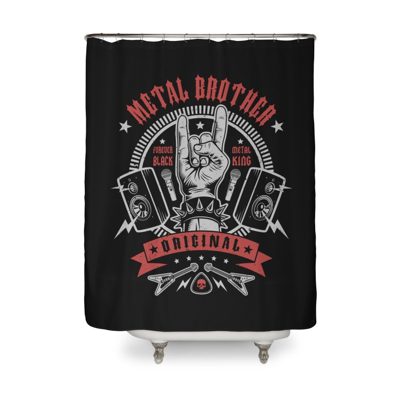 Metal Brother Home Shower Curtain by Olipop Art & Design Shop