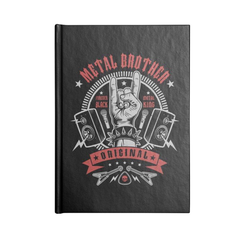Metal Brother Accessories Notebook by Olipop Art & Design Shop