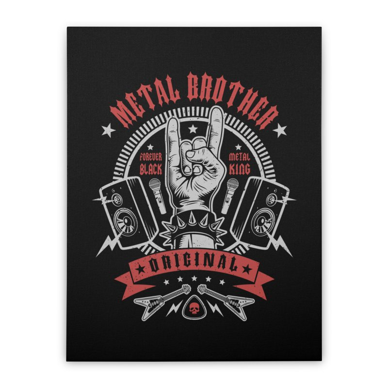 Metal Brother Home Stretched Canvas by Olipop Art & Design Shop