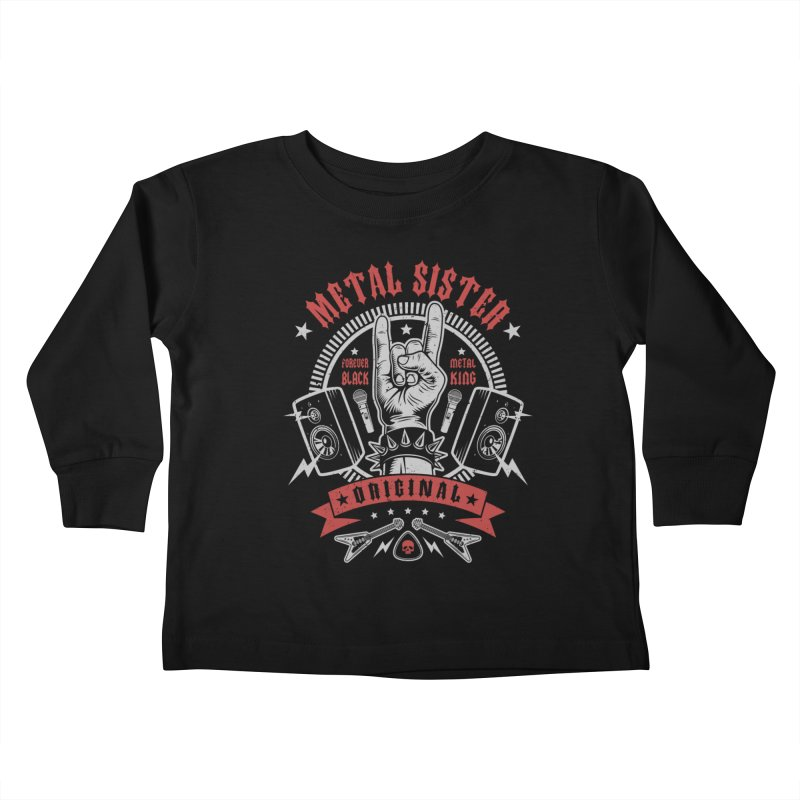 Metal Sister Kids Toddler Longsleeve T-Shirt by Olipop Art & Design Shop