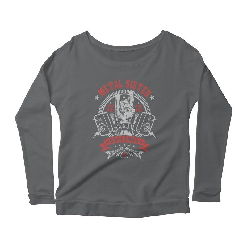 Metal Sister Women's Longsleeve T-Shirt by Olipop Art & Design Shop