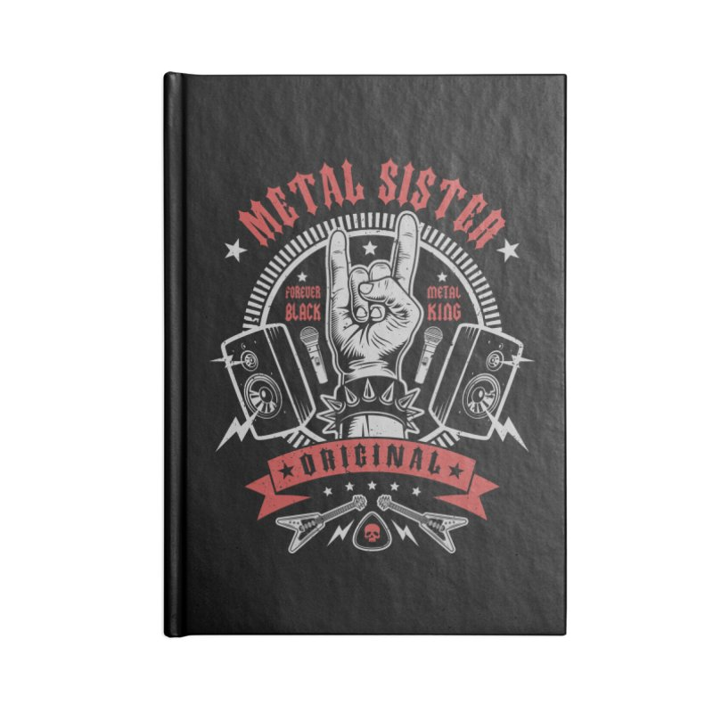 Metal Sister Accessories Notebook by Olipop Art & Design Shop