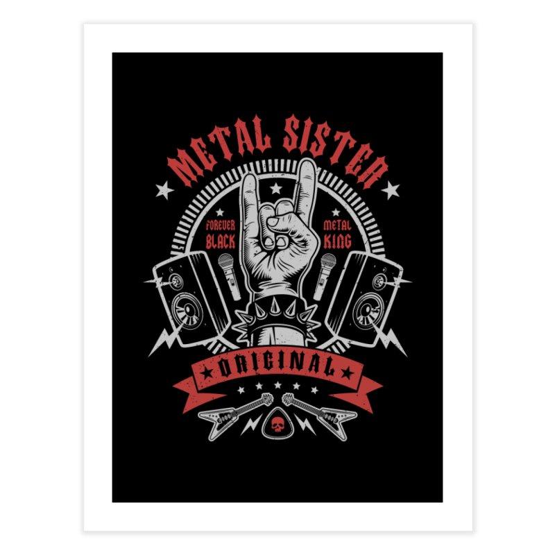 Metal Sister Home Fine Art Print by Olipop Art & Design Shop
