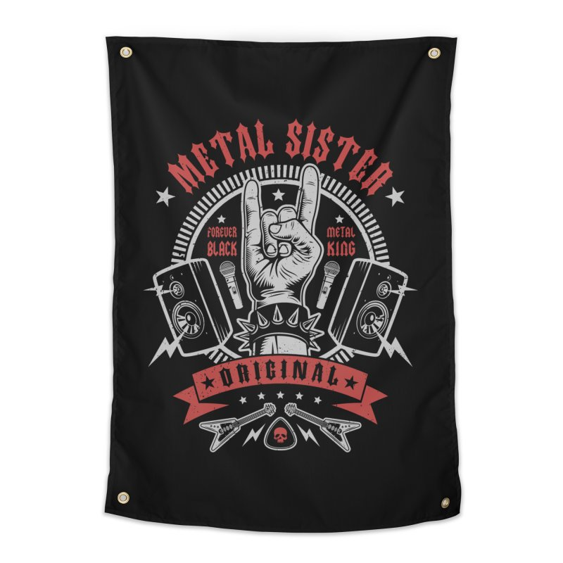 Metal Sister Home Tapestry by Olipop Art & Design Shop