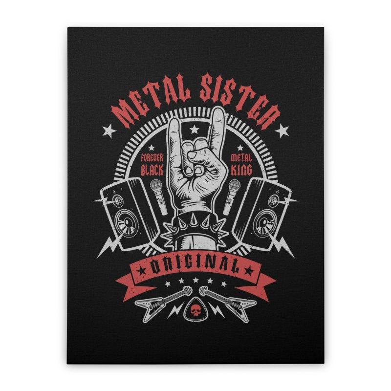 Metal Sister Home Stretched Canvas by Olipop Art & Design Shop