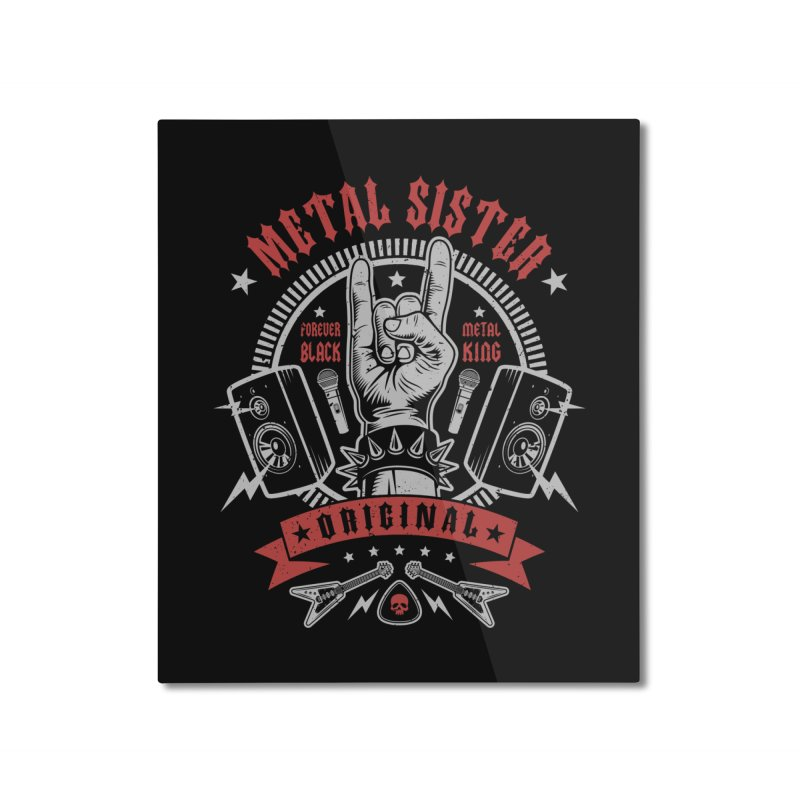 Metal Sister Home Mounted Aluminum Print by Olipop Art & Design Shop