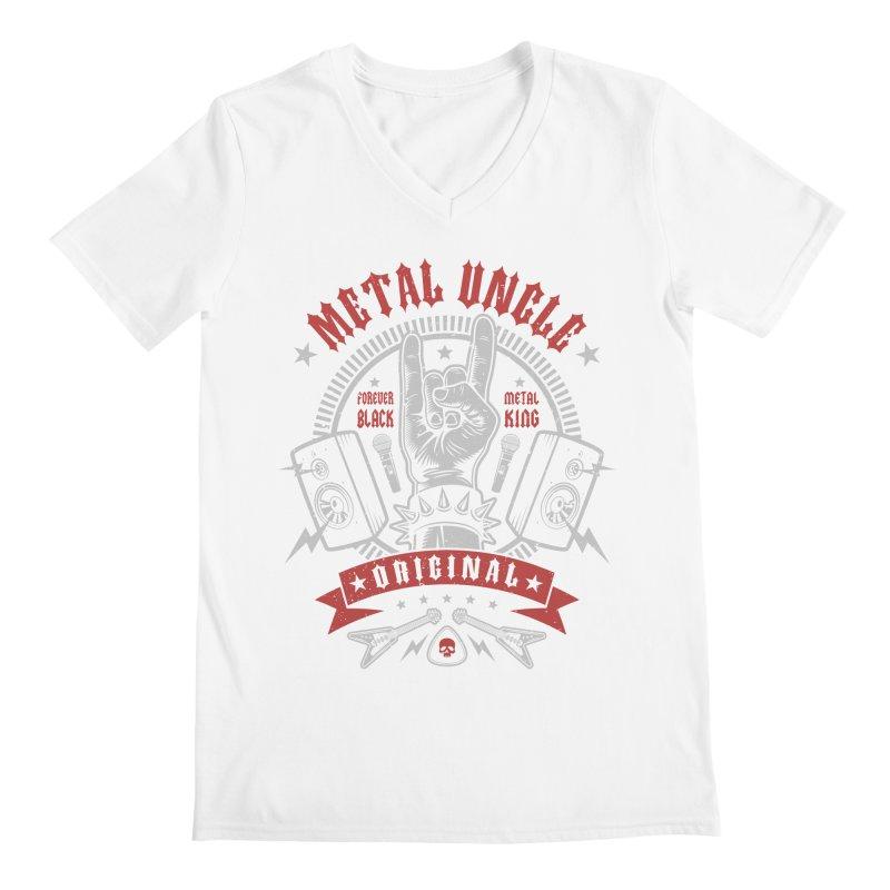 Metal Uncle Men's V-Neck by Olipop Art & Design Shop