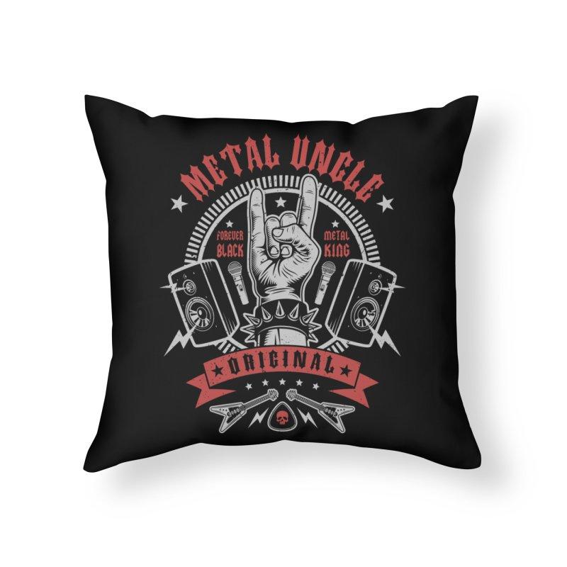 Metal Uncle Home Throw Pillow by Olipop Art & Design Shop