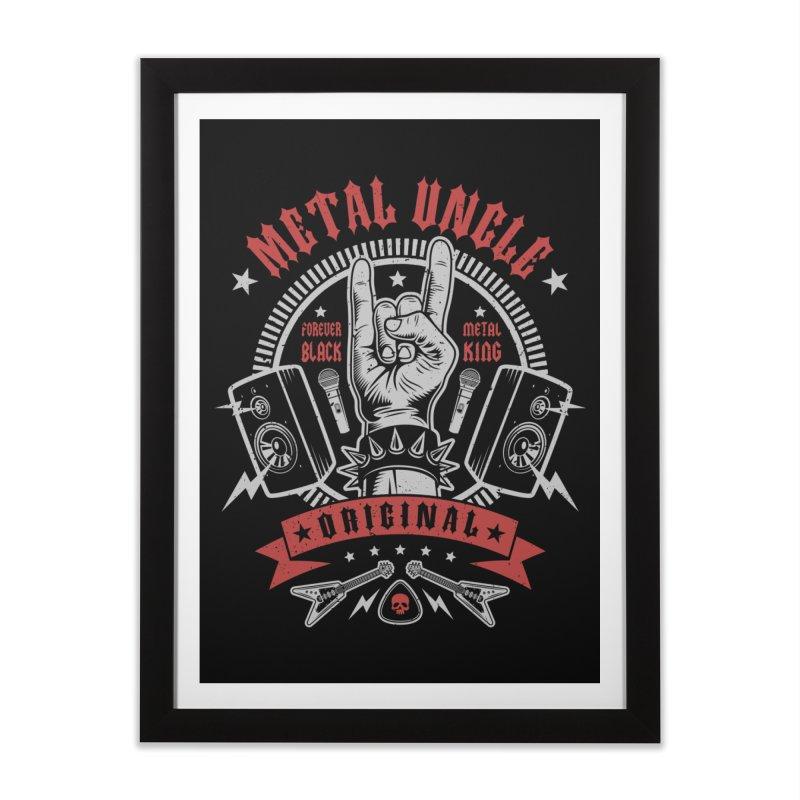 Metal Uncle Home Framed Fine Art Print by Olipop Art & Design Shop