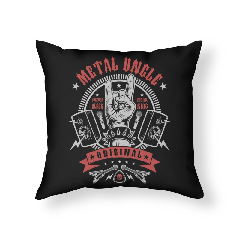 Metal Uncle Home Throw Pillow by Olipop Art & Design Shop