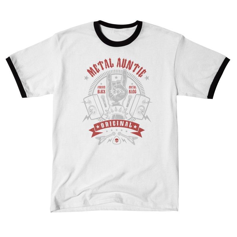 Metal Auntie Men's T-Shirt by Olipop Art & Design Shop