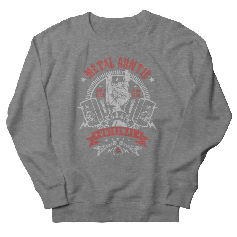 Metal Auntie Men's Sweatshirt by Olipop Art & Design Shop