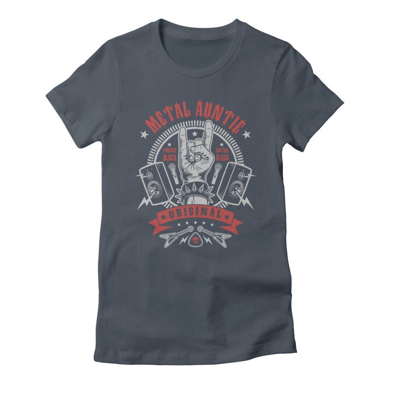 Metal Auntie Women's T-Shirt by Olipop Art & Design Shop