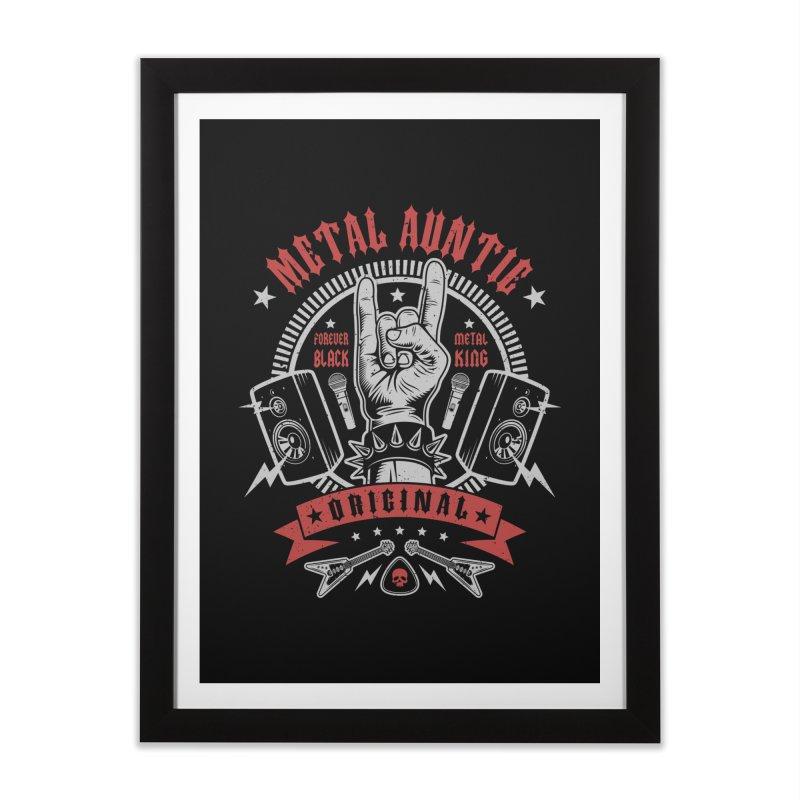 Metal Auntie Home Framed Fine Art Print by Olipop Art & Design Shop