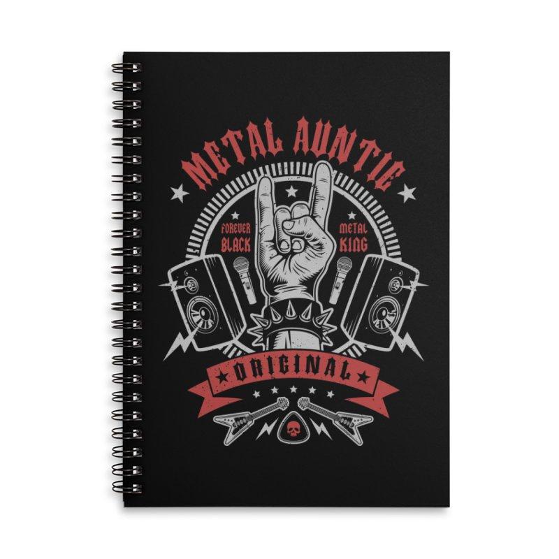 Metal Auntie Accessories Notebook by Olipop Art & Design Shop