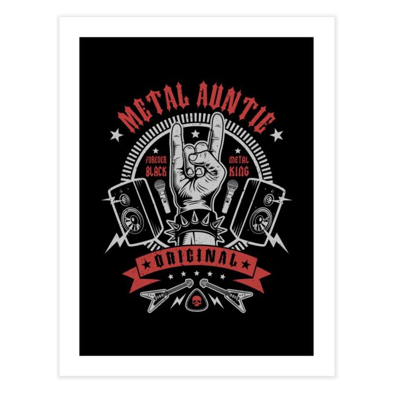 Metal Auntie Home Fine Art Print by Olipop Art & Design Shop