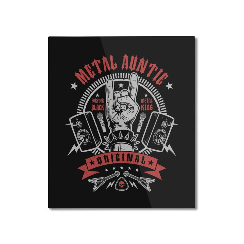 Metal Auntie Home Mounted Aluminum Print by Olipop Art & Design Shop