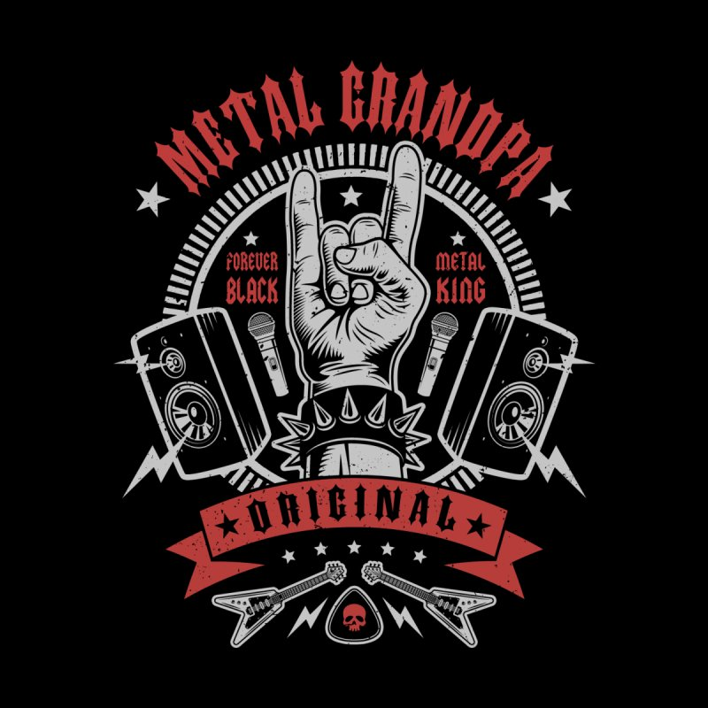 Metal Grandpa Men's V-Neck by Olipop Art & Design Shop