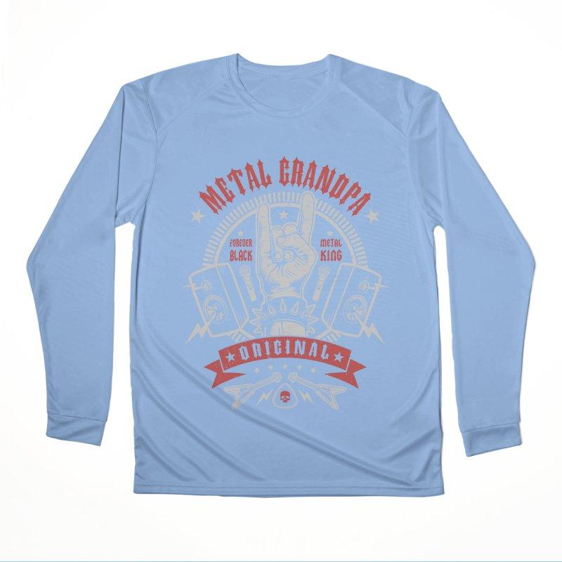 Metal Grandpa Women's Longsleeve T-Shirt by Olipop Art & Design Shop