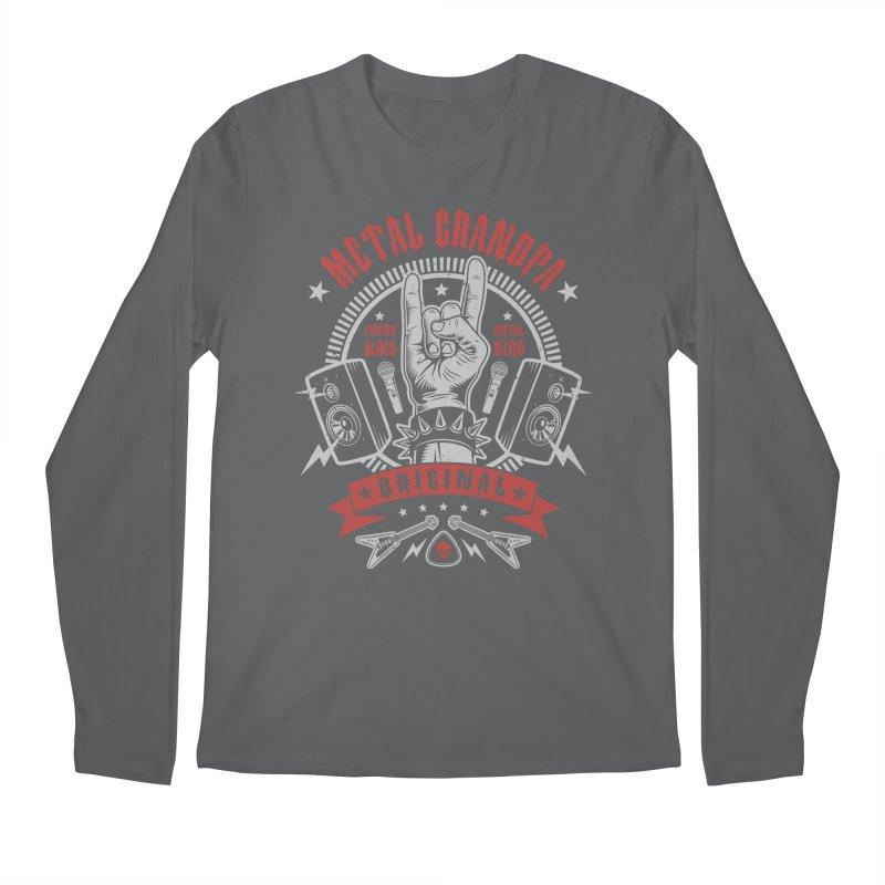 Metal Grandpa Men's Longsleeve T-Shirt by Olipop Art & Design Shop