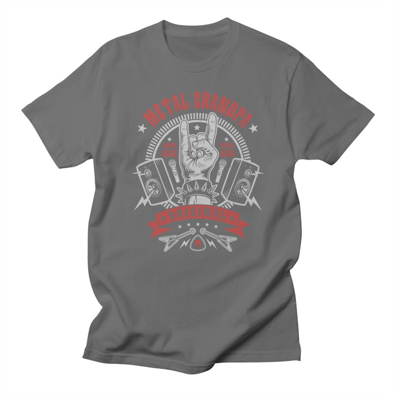 Metal Grandpa Men's T-Shirt by Olipop Art & Design Shop