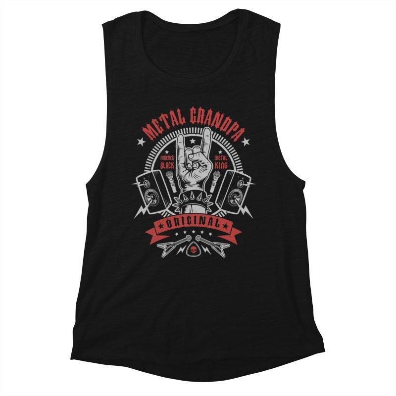 Metal Grandpa Women's Tank by Olipop Art & Design Shop