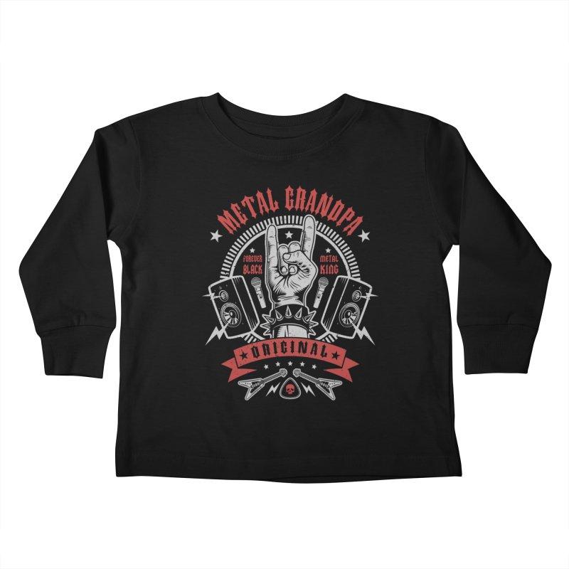 Metal Grandpa Kids Toddler Longsleeve T-Shirt by Olipop Art & Design Shop