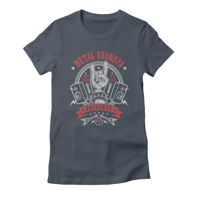 Metal Grandpa Women's T-Shirt by Olipop Art & Design Shop