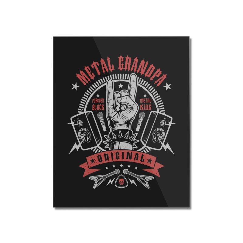 Metal Grandpa Home Mounted Acrylic Print by Olipop Art & Design Shop