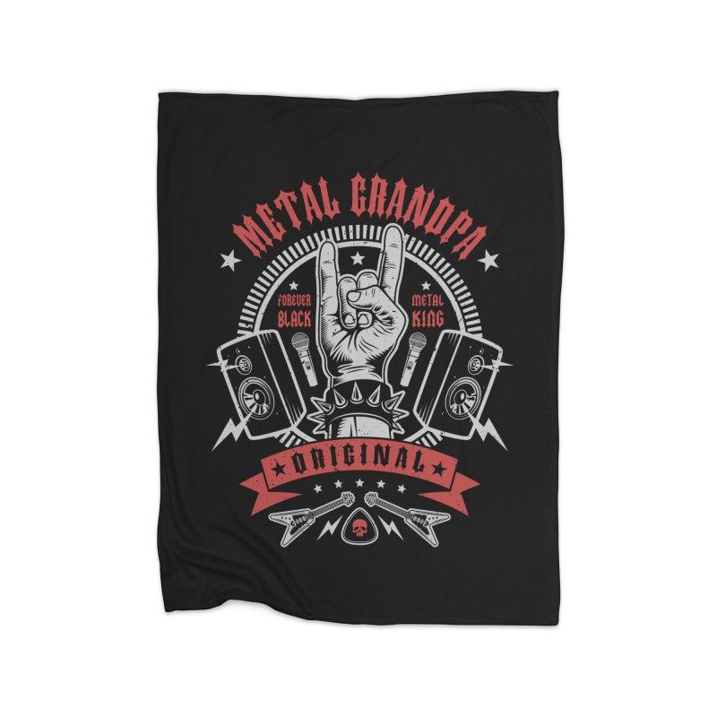 Metal Grandpa Home Blanket by Olipop Art & Design Shop