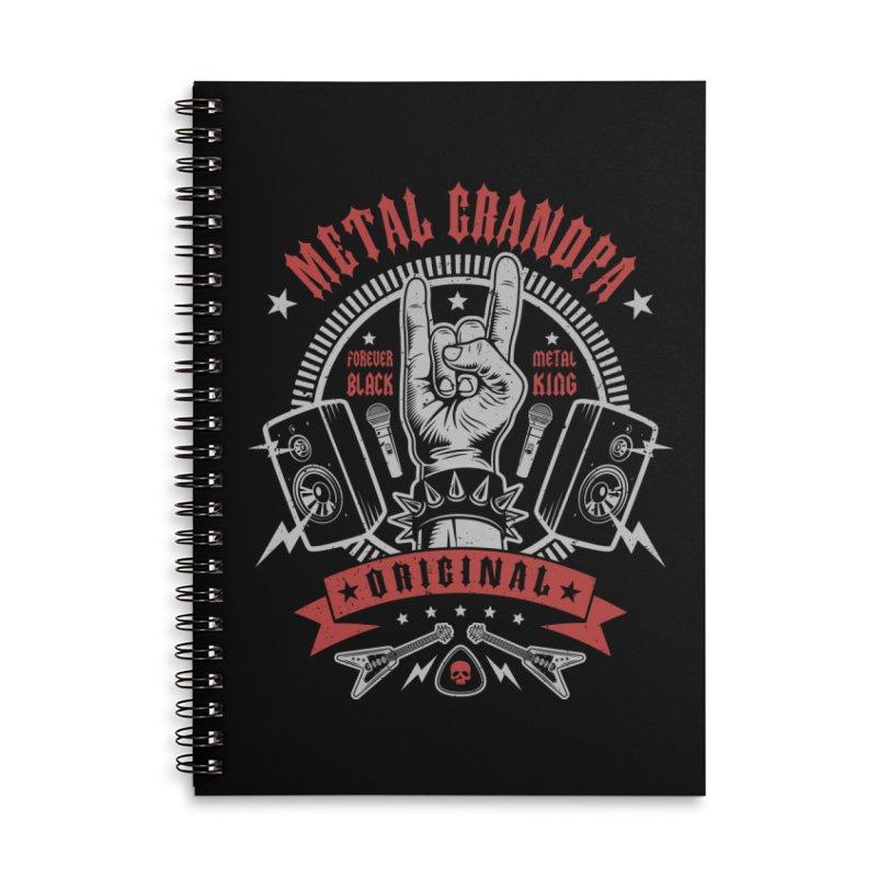 Metal Grandpa Accessories Notebook by Olipop Art & Design Shop