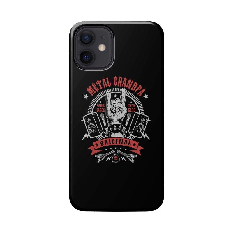 Metal Grandpa Accessories Phone Case by Olipop Art & Design Shop