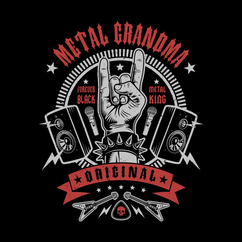 Metal Grandma Kids T-Shirt by Olipop Art & Design Shop