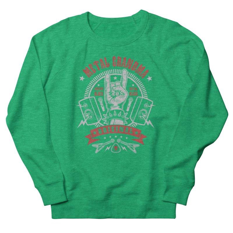 Metal Grandma Women's Sweatshirt by Olipop Art & Design Shop
