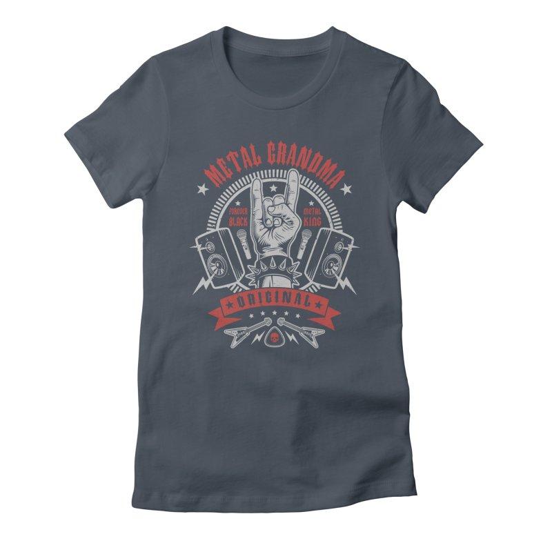 Metal Grandma Women's T-Shirt by Olipop Art & Design Shop