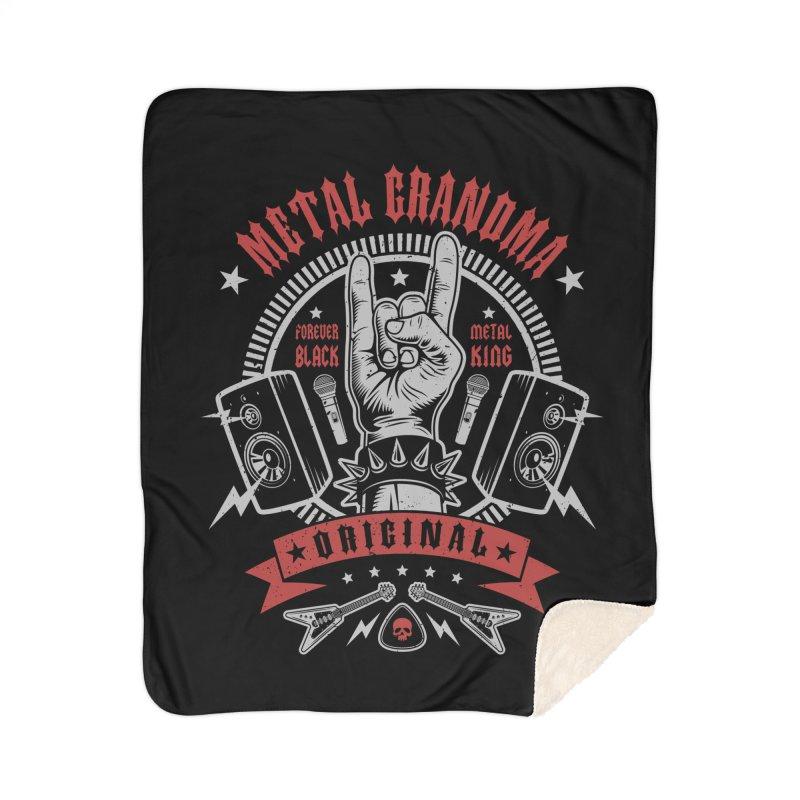 Metal Grandma Home Blanket by Olipop Art & Design Shop