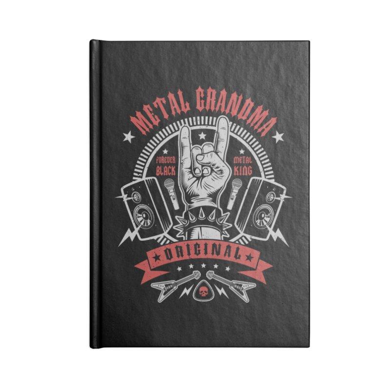 Metal Grandma Accessories Notebook by Olipop Art & Design Shop