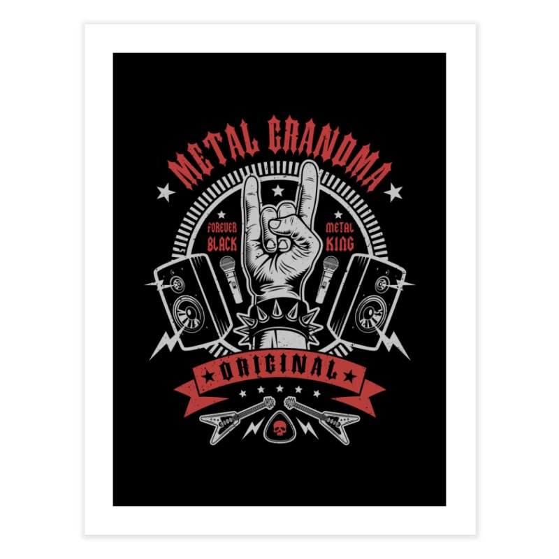 Metal Grandma Home Fine Art Print by Olipop Art & Design Shop