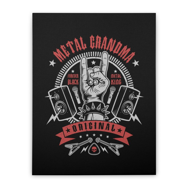 Metal Grandma Home Stretched Canvas by Olipop Art & Design Shop