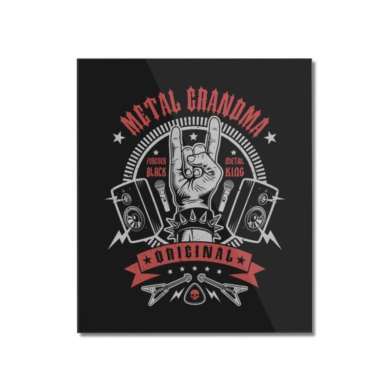 Metal Grandma Home Mounted Acrylic Print by Olipop Art & Design Shop