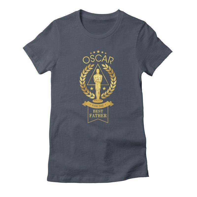 Award-Winning Father Women's T-Shirt by Olipop Art & Design Shop