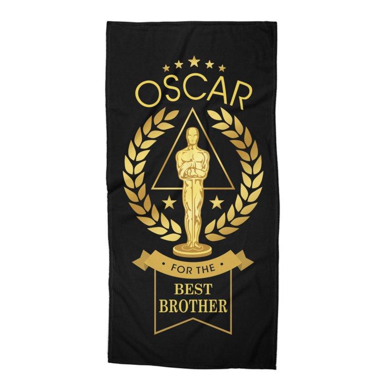 Award-Winning Brother Accessories Beach Towel by Olipop Art & Design Shop