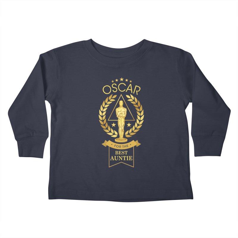 Award-Winning Auntie Kids Toddler Longsleeve T-Shirt by Olipop Art & Design Shop