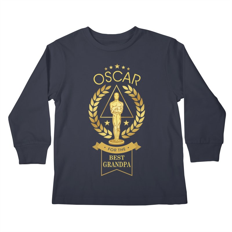 Award-Winning Grandpa Kids Longsleeve T-Shirt by Olipop Art & Design Shop