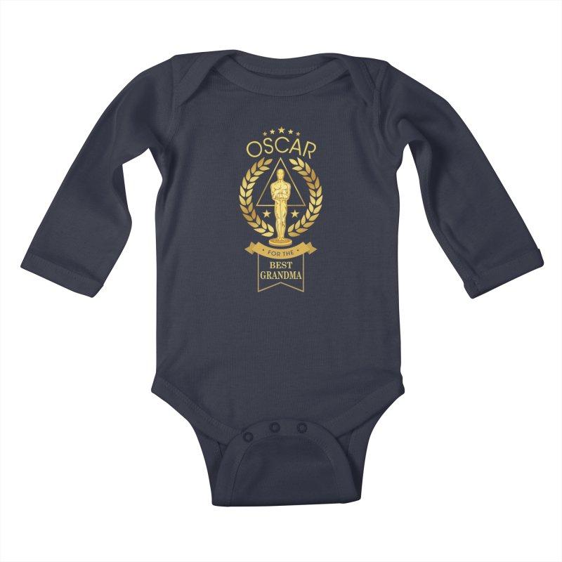Award-Winning Grandma Kids Baby Longsleeve Bodysuit by Olipop Art & Design Shop