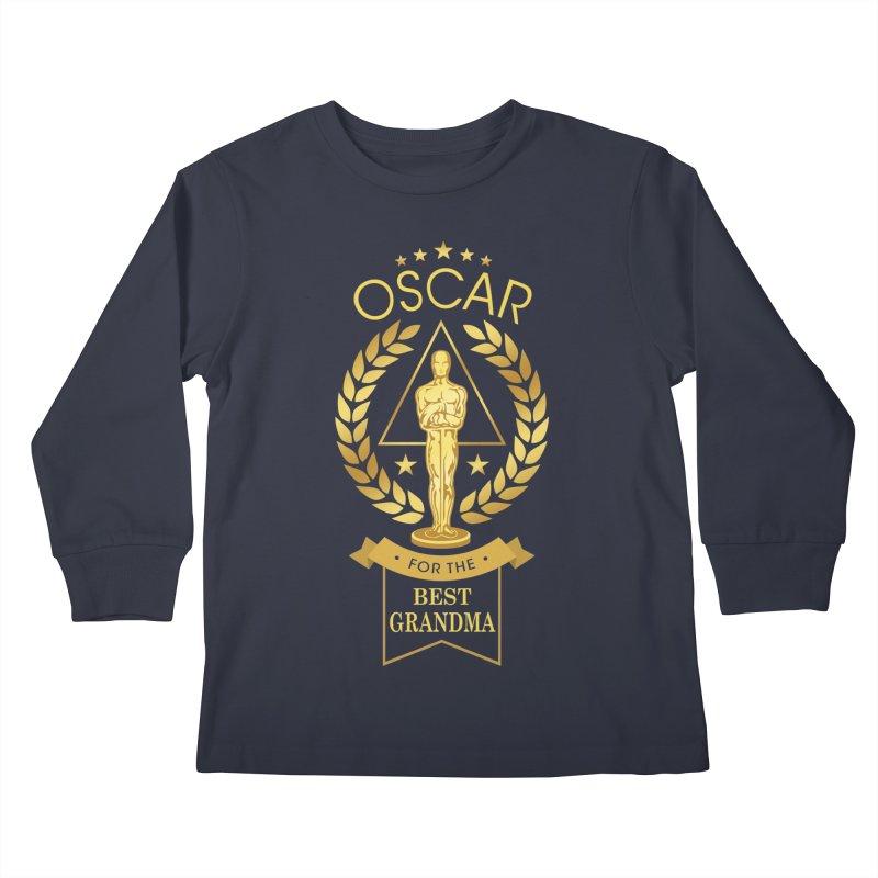 Award-Winning Grandma Kids Longsleeve T-Shirt by Olipop Art & Design Shop